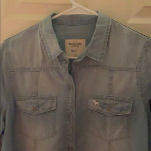 Abercrombie and Fitch denim top